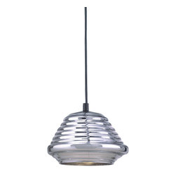 Bromi Design - Bromi Design Hive 1-Light Pendant in Chrome - Simple, artistic and graceful, this pendant seems to float in the air. Hang it anywhere you want to create a buzz of interest. Silver-trimmed rods can be adjusted for any height you desire.