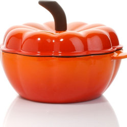 Wolfgang Puck Cast Iron 2-Quart Pumpkin Casserole With Lid