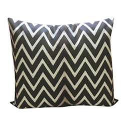 Indoor/Outdoor Pillow Cover In Zapallar Tango, Charcoal - What a fun way to add color to your space, Love the vibrant color and pattern of this pillow will be perfect for your indoor or outdoor furniture. You can use them on your patio, or by the pool. Same fabric on both sides, with envelope closure. 100% Spun Polyester .This is one of the inexpensive way to add color to your furniture.