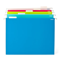 "Poppin - Hanging File Folders - ""If it's yellow, it must be invoices."" It's one thing to be organized. It's quite another to lay your hand on the exact documents you need, as soon as you need them. These vivid hanging folders will cheerfully help you do just that with color-coded efficiency."