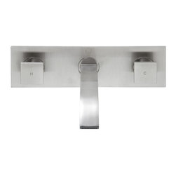 Vigo - Vigo Titus Dual Handle Wall Mount Faucet, Brushed Nickel (VG05002BN) - Vigo VG05002BN Titus Dual Handle Wall Mount Faucet, Brushed Nickel