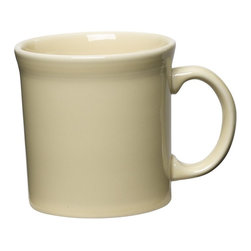 Fiesta - Fiesta Ivory Java Mug 12 oz. - Set of 4 Ivory White - HPJC915 - Shop for Mugs from Hayneedle.com! About FiestaAmerica's favorite dinnerware line Fiesta was introduced by the Homer Laughlin China Company in 1936. Available in plenty of bright vibrant colors and unique shapes Fiesta dinnerware and serveware features Art Deco-style concentric rings. Made from durable restaurant-quality ceramic and finished in lead- and cadmium-free glazes this line of kitchenware is easy to mix and match to create your own custom set. Best of all each piece is microwave- and oven-safe and dishwasher-safe for easy cleanup.