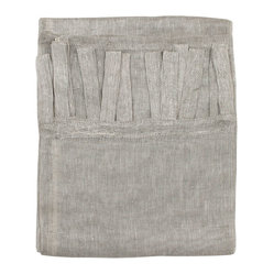 Linen Netting Curtain Panels, Gray/Natural