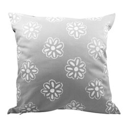 Moko & Co. - Pillow Cover - Daisy in Grey, 14x14 - The Process: