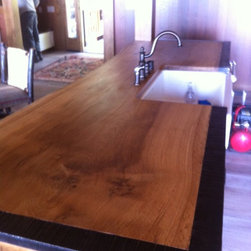Tahoe City Lakefront - This countertop was another recent project we completed for a lakefront in Tahoe City, CA. We used all California white oak that was dried in our new Nyle dehumidification kiln.