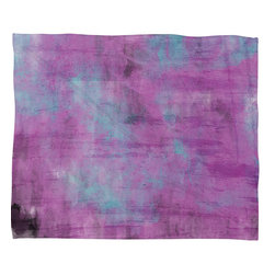 DENY Designs - Allyson Johnson Purple Paint Fleece Throw Blanket - This DENY fleece throw blanket may be the softest blanket ever! And we're not being overly dramatic here. In addition to being incredibly snuggly with it's plush fleece material, it's maching washable with no image fading. Plus, it comes in three different sizes: 80x60 (big enough for two), 60x50 (the fan favorite) and the 40x30. With all of these great features, we've found the perfect fleece blanket and an original gift! Full color front with white back. Custom printed in the USA for every order.