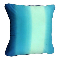 BohoCHIC Maui - Ocean Blue Pillow Cover, Decorative Pillow Cushion Cover, Boho Toss Pillow - This cushion has been hand crafted from a beautiful printed cotton with varied hues of ocean blue at the front and royal blue mirror organza at the back. This lush of mix natural and glamour together was achieved by using 100% cotton fabric and mirror organza textures that feel soft and smooth to the touch. The alluring blues combined with the different fabric textures is stunning and envokes the feeling of the ocean and being on the beach near the water.