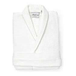 Jacaranda Living - Waffle Weave Bathrobe - For the full spa experience, wrap yourself into this 100 percent cotton robe. Lightweight yet soft and warm, it's perfect for travel, too.