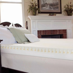 Slumber Solutions - Slumber Solutions Highloft Mattress MakeOver 5-inch Memory Foam Mattress Topper - Put this five-inch-thick memory foam mattress topper on top of your existing mattress to give it new life and give yourself more refreshing sleep. It features a top layer of textured foam for air circulation and a bottom layer of solid foam for support.