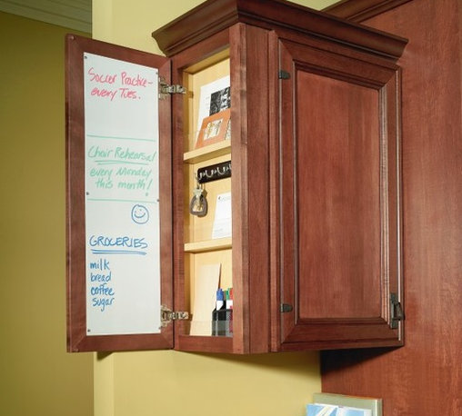 Decora Message Center Wall Cabinet - A Wall Message Center helps you organize a hectic family schedule.
