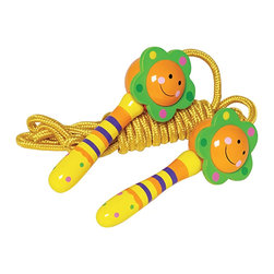"The Original Toy Company - The Original Toy Company Kids Children Play Flower Jump Rope - This classic timeless jump rope is handcrafted of hardwood handles with matching colorful rope. Retail package- head card with poly bag. Handle Size- 5""L. Rope Length 94 inch. Ages 3 years plus. Weight: 1 lbs."