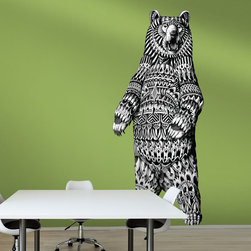 My Wonderful Walls - BioWorkZ Grizzly Bear Wall Decal - - Product: ornate grizzly bear wall sticker decal