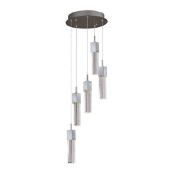 ET2 - ET2 Fizz III Pendant Light - This forever popular collection is now better than ever. High output LEDs now illuminate the bubble glass pendants. The LED modules produce 20% more light, 90% less heat, 25 time longer life, and 75% less energy than the previous halogen lamp. You also still have dimming capability, adding a personal touch to your space.