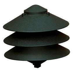 Progress Lighting - Progress Lighting P5210-31 Pagoda 1 Light Landscape Accent Lights in Black - Cast aluminum path and driveway light. Clear glass liner. 1/2 NPS threaded fitting for permanent or P5233 installation.