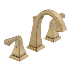 Delta Two Handle Widespread Lavatory Faucet - 3551LF-CZ - The clean lines and dramatic geometric forms of the Dryden Bath Collection are based on style cues from the Art Deco period.