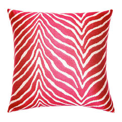 shopMACK - Dergo Zebra Pillow, 20x20 - Turn your home into a safari with our Dergo Zebra Pillow! Featuring a bold zebra pattern in bright red, this pillow is the perfect way to bring out your wild side in any room.