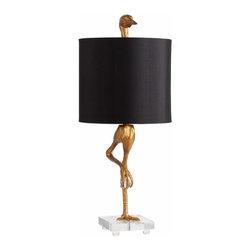 Ancient Gold Finish Ibis Bird Table Lamp - *Ibis Table Lamp
