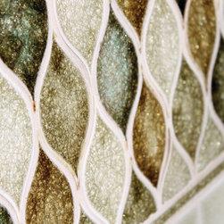Wave Mosaic Wall Tile - Green wave shaped wall tile