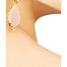 Gold plated silver earrings embellished with multi coloured crystals and pearl,