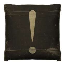 To the Point Pillow - The To the Point Pillow is bound to cause some envious exclamations with its edgy, industrial-inspired design. With its distressed style detailing, you can fool friends and family into thinking you salvaged this throw pillow from an old typing school: don't worry though, your secret's safe with us.