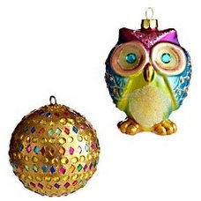 Eclectic Christmas Ornaments by Pier 1 Imports