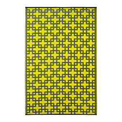 None - Prater Mills Indoor/ Outdoor Reversible Lime Green/ Gray Rug - This beautifully crafted rug is made following the fair trade principles. It is made using premium quality recycled plastics which are tightly woven together to offer strength,softness and beauty.