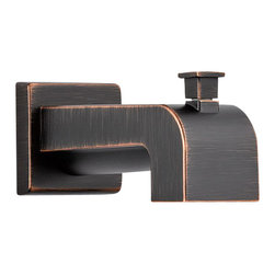 Delta Tub Spout - Pull-Up Diverter - RP53419RB - Inspired by slim lines and graceful arc of a ribbon, the Vero bath collection offers a high-end, modern look to the bath.