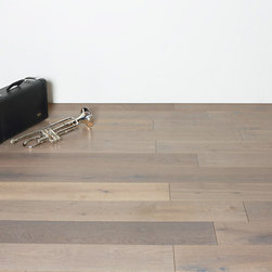 """Royal Oak Collection - Urban Gray - 7.5"""" wide plank UV Oiled engineered floors using European White Oak with a generous 4mm top wear layer."""