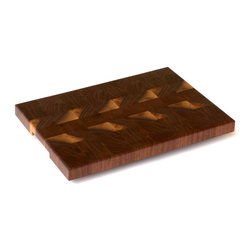 Cherrywood Studio - Black Walnut Cheese/Cutting Board - These boards are created from off cuts of our larger projects.  We like to use as much of the salvaged hardwood tree as possible.  These boards feature the end grain of the wood and are the choice of professional chefs.