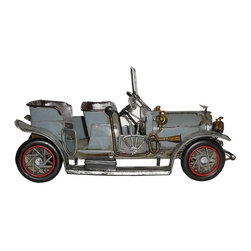 Golden Lotus - Handmade Classic Style Gray Metal Model Car - You are looking at a handmade classic style gray metal model car. All gears are made in details. It is a nice collectors' item.