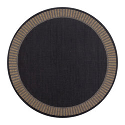 "Couristan - Recife Wicker Stitch Rug 1681/2000 - 7'6"" x 7'6"" Round - These weather-defying area rugs are suitable for indoor and outdoor use. You'll love the way they color-coordinate with today's most popular outdoor furniture pieces. The collection's naturally inspired color palette will provide a warmer and more inviting appearance for patio decks and stone entryways."