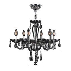 Worldwide Lighting - Worldwide Lighting W83128C22-SM Gatsby 6 Light Candle Style Crystal Chandelier - Features: