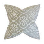 """The Pillow Collection - Indre Geometric Pillow, Dove 18"""" x 18"""" - This throw pillow is the perfect addition to your living space."""