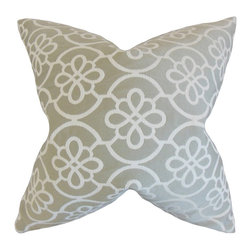 "The Pillow Collection - Indre Geometric Pillow, Dove 18"" x 18"" - This throw pillow is the perfect addition to your living space."