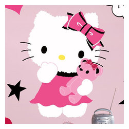 York Wallcoverings - Sanrio Hello Kitty Couture Large Self-Stick Wall Accent Set - Features: