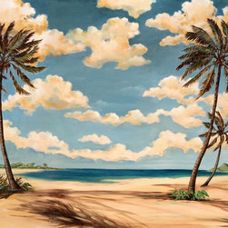 Murals Your Way - Palm Breeze III Wall Art - Painted by Paul Brent, the Palm Breeze III wall mural from Murals Your Way will add a distinctive touch to any room