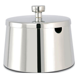 "Cuisinox - Roma Sugar Bowl - This modern looking covered sugar bowl has a slot for a spoon.; Material: 18/10 Stainless steel; 10 oz capacity each; Dishwasher safe; Country of Origin: China; Weight: 1 lbs; Dimensions: 3""H x 4""W x 4""D"