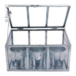 Smith & Hawken® 3-Pot Herb Greenhouse - Help your gardening friends get a jump start on spring with this stylish mini-greenhouse. The kit includes soil and seeds for Basil, Parsely and Cilantro.