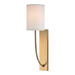 HUDSON VALLEY LIGHTING - Hudson Valley Lighting Colton-Wall Sconce Aged Brass - Free Shipping