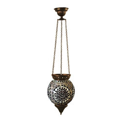 Art-Win Lighting P10015 Handmade Mosaic Pendant, Brown - Handmade in Istanbul, Turkey. Hand-crafted item is produced with glass-on-glass technique. Tradition of centuries is now available for you. Fine handmade mosaic lamps that require years of experience and specialized craftsmanship are carefully manufactured by Art-Win Lighting.