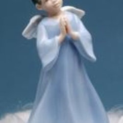 CG - 6.5 Inch Angel Boy Figurine Praying In Blue Gown with White Wings - This gorgeous 6.5 Inch Angel Boy Figurine Praying In Blue Gown with White Wings has the finest details and highest quality you will find anywhere! 6.5 Inch Angel Boy Figurine Praying In Blue Gown with White Wings is truly remarkable.