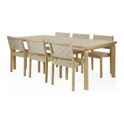 "Artek - E86 Dining Table - Features: -Top table dimensions: 2"" H x 78.7"" W x 38.4"" D. -Overall dimensions: 28.3""H x 78.7"" W x 39.4"" D."