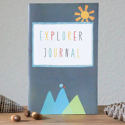 Children Inspire Design - Explorer Journal - Record the journey of self-discovery and inspiration in this introspective journal. Chronicling thoughts and feelings not only helps to relax and process the day, but it's a wonderful thing to help recall important moments.   Note: Children Inspire Design will donate $2.75 for each print sold up to $5,000 to Free2Luv.org, a nonprofit focused on putting an end to bullying.   5'' W x 8'' H Paperback / 60 pages New Leaf recycled paper / soy ink Made in the USA