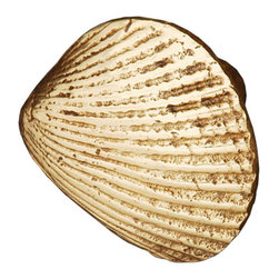 Tropical Shell Cabinet Knob - Whether you live in San Diego or Key West (or just wish you did), this shell cabinet knob is a great way to bring the beauty of the ocean indoors. This beautiful seashell knob is crafted with an attention to detail that gives it a realistic look and an elegance one might not necessarily associate with beach themed decor. This cabinet knob made by RK International is available in polished brass (pictured), satin nickel, and oil rubbed bronze finishes.