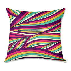 DiaNoche Designs - Pillow Woven Poplin from DiaNoche Designs by Pom Graphic Design Tropical Leaves - Toss this decorative pillow on any bed, sofa or chair, and add personality to your chic and stylish decor. Lay your head against your new art and relax! Made of woven Poly-Poplin.  Includes a cushy supportive pillow insert, zipped inside. Dye Sublimation printing adheres the ink to the material for long life and durability. Double Sided Print, Machine Washable, Product may vary slightly from image.