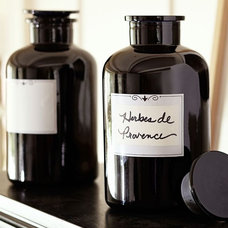 Eclectic Bathroom Canisters by Pottery Barn