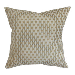 """The Pillow Collection - Barberry Geometric Pillow Gray 18"""" x 18"""" - Keep your interiors chic and comfortable by decorating this geometric accent pillow. This square pillow is ideal for your bedroom, living room or anywhere inside your home. This decor pillow features a striking geometric pattern in shades of gray, white and brown. A gorgeous statement piece on its own, this 18"""" pillow makes your space a perfect space for relaxation. Made from 100% high-quality cotton material. Hidden zipper closure for easy cover removal.  Knife edge finish on all four sides.  Reversible pillow with the same fabric on the back side.  Spot cleaning suggested."""