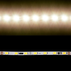 EnvironmentalLights - WW 5630 Single Row CC LED Strip Light 70/m 5.1mm wide Foot - Sold by the 2 meter reel, foot and sample kit.