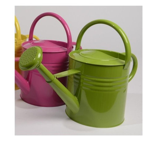 L'Eau de Fleur Green Outdoor Garden Patio Watering Can - Don't forget a watering can. These come in bright cheery colors.