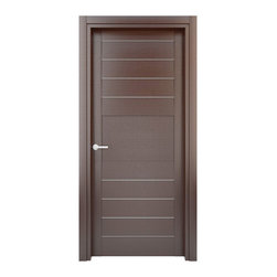 Solid Wood Interior Door –  Model: W31s, 35x80 - Doors are made of solid wood construction covered with textured laminate, Frames are produced using solid wood covered in laminate. Moldings are plywood covered in laminate.
